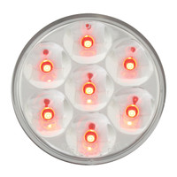 "2"" LED Pearl Red/Clear  Marker Light"