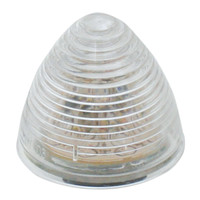 "2"" LED Beehive Red/Clear Marker Light"