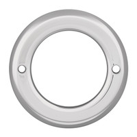 "2.5"" Light Bezel Chrome Plastic Screw On"