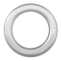 "4"" Light Bezel Chrome Plastic Screw On"
