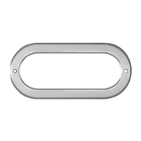 Oval Light Bezel Chrome Plastic Screw On