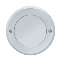 "2.5"" Mirror Light Bezel Chrome Plastic Screw On"