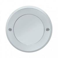 "2.5"" Mirror Light Bezel Chrome Plastic Screw On"