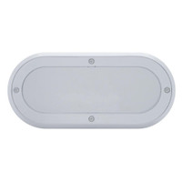 Oval Mirror Light Bezel Chrome Plastic Screw On