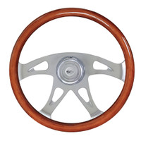 "Steering Wheel 18"" Mahogany ""Ace"" (Requires 3 Hole Hub)"