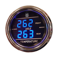 TELTEK 165 DUAL AXLE TEMP GAUGE  ( RED FACE)