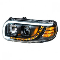 BLACKOUT PROJECTION HEADLIGHT W/ LED POSITION & TURN SIGNAL. PAIR