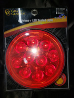 "4"" PRIME + LED SEALED LIGHT RED/RED"