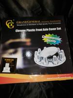 CHROME PLASTIC FRONT AXLE COVER SET