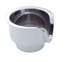Chrome Plastic Cup Holder Insert for Kenworth & Peterbilt