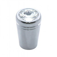 Chrome aluminum mini toggle switch extension with clear crystal diamond for Kenworth