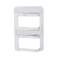 Chrome Rocker Switch Cover - 2 Switches
