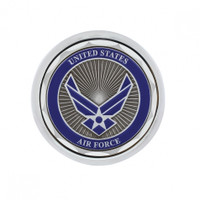 Deluxe Military Medallion Air Valve Knobs - Air Force