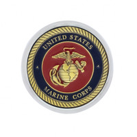 Deluxe Military Medallion Air Valve Knobs - Marine