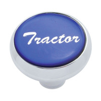 """Tractor"" Deluxe Air Valve Knob - Blue Glossy Sticker"