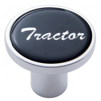 """Tractor"" Air Valve Knob - Black Glossy Sticker"