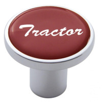 """Tractor"" Air Valve Knob - Red Glossy Sticker"