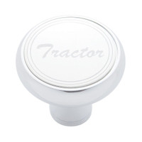 """Tractor"" Deluxe Air Valve Knob - Stainless Plaque W/ Cursive Script"