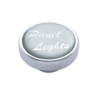 """Panel Lights"" Dash Knob - Silver Glossy Sticker"