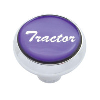 """Tractor"" Deluxe Air Valve Knob - Purple Glossy Sticker"