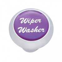 "Small Deluxe Dash Knob With ""Wiper/Washer"" Purple Glossy Sticker"
