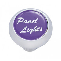 "Small Deluxe Dash Knob With ""Panel Lights"" Purple Glossy Sticker"