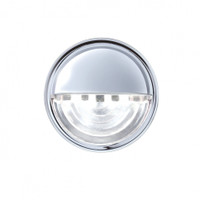 4 LED Round License Light - White LED