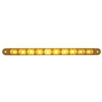 """10 LED 9"""" Turn Signal Light Bar - Amber LED/Amber Lens"""