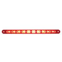 "10 LED 9"" Stop, Turn & Tail Light Bar Only - Red LED/Red Lens"