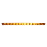 "14 LED 12"" Turn Signal Light Bar - Amber LED/Amber Lens"