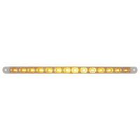 "14 LED 12"" Turn Signal Light Bar - Amber LED/Clear Lens"