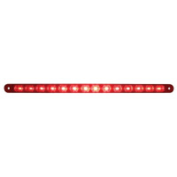 "14 LED 12"" Stop, Turn & Tail Light Bar Only - Red LED/Red Lens"