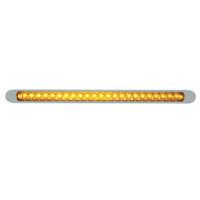 "23 LED 17 1/4"" Reflector Turn Signal Light Bar W/ Bezel - Amber LED/Amber Lens"