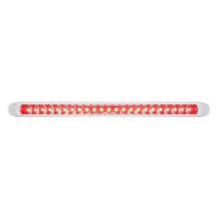 "23 LED 17 1/4"" Reflector Stop, Turn & Tail Light Bar W/ Bezel - Red LED/Red Lens"