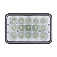 "15 High Power LED 4"" X 6"" Rectangular Light"
