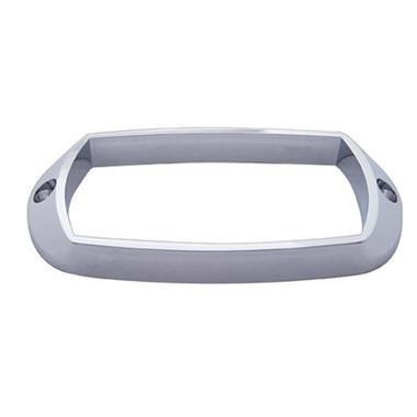 Chrome Rectangular Bezel - Tiger Eye Marker Light
