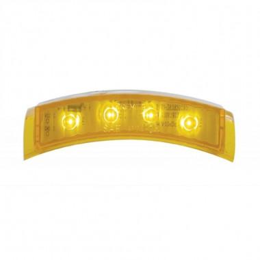 4 LED Headlight Turn Signal Light - Amber LED/Amber Lens