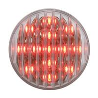 "13 LED 2-1/2"" Clearance/Marker Light - Red LED/Clear Lens"