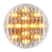 "13 LED 2-1/2"" Clearance/Marker Light - Amber LED/Clear Lens"
