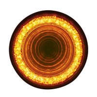 "24 LED 4"" Mirage Turn Signal Light - Amber LED/Clear Lens"