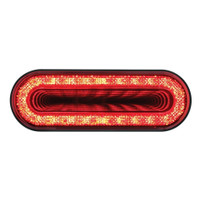 "24 LED 6"" Oval Mirage Stop, Turn & Tail Light - Red LED/Red Lens"