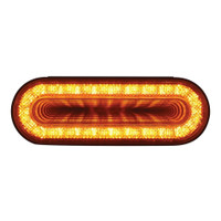 "24 LED 6"" Oval Mirage Turn Signal Light - Amber LED/Amber Lens"