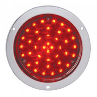 """40 LED Deep Dish 4"""" Stop, Turn & Tail Light - Red LED/Red Lens"""