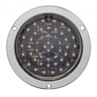 """40 LED Deep Dish 4"""" Stop, Turn & Tail Light - Red LED/Clear Lens"""