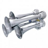 Deluxe 4 Trumpet Mini Chrome Train Horn
