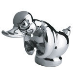 Nickel Angry Duck Hood Ornament