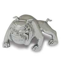 Chrome Bull Dog Hood Ornament