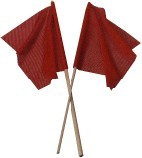 "3/4"" Wood Dowel Warning Flag Red"