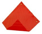 "Grommet Warning Flag 18"" x 18"" Red"