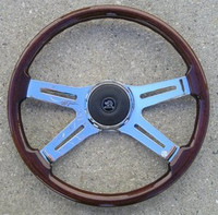 "STEERING WHEEL 18"" WOOD 4-SPOKE"